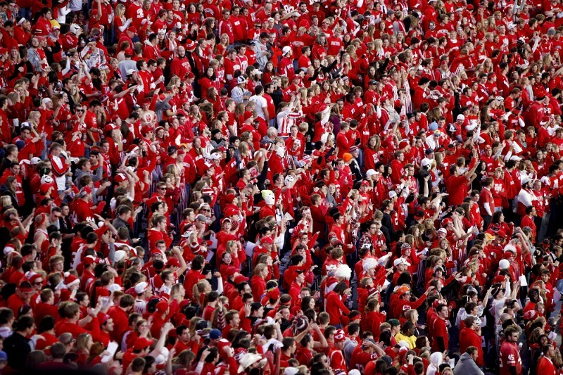 student fans badgers uw football file photo