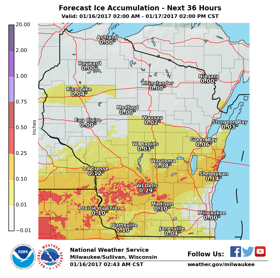 Icy Monday Will Make For Tough Travel Conditions Local Weather - Us weather map driving conditions