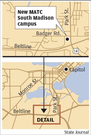MATC South Madison campus map