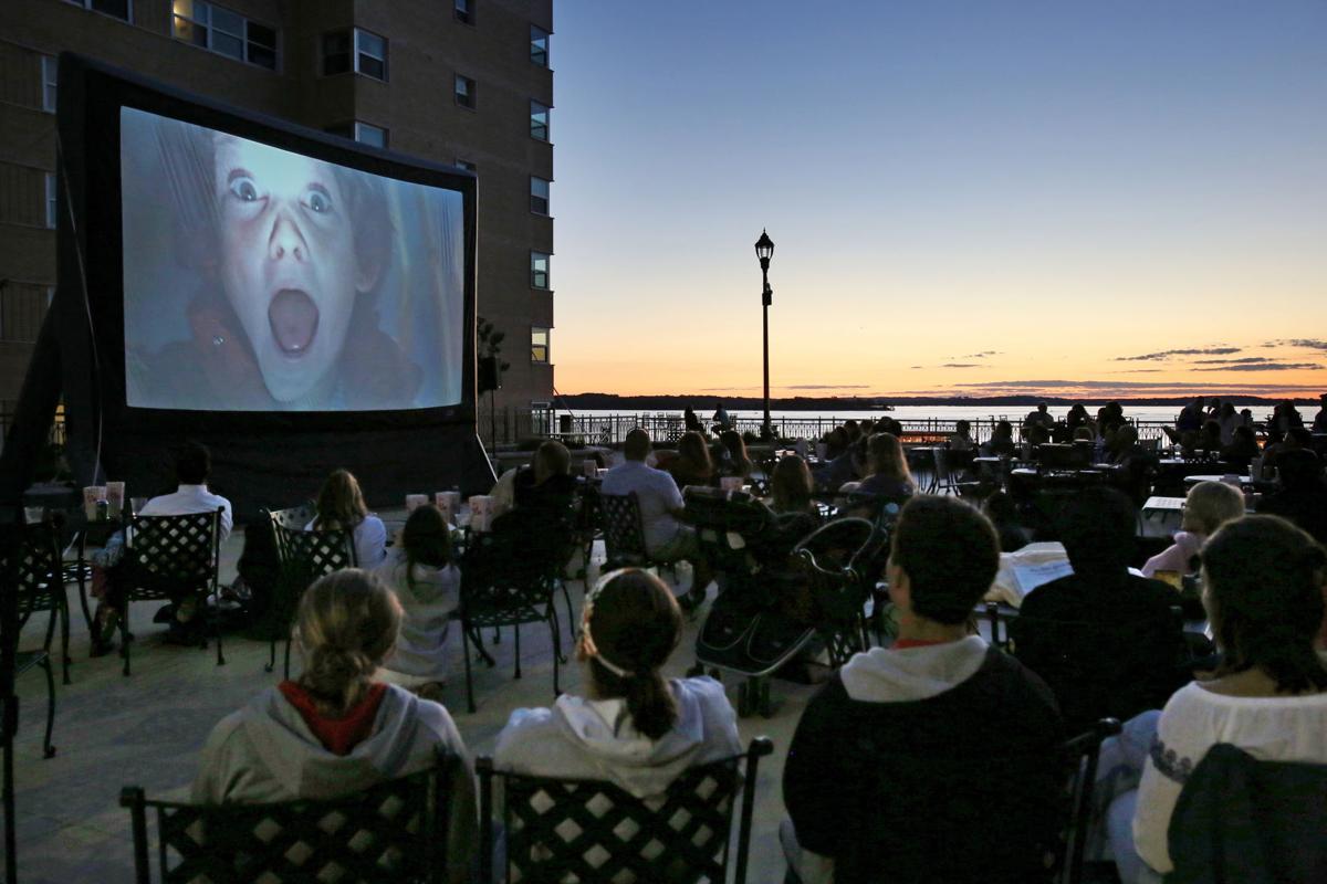 Movie night at The Edgewater