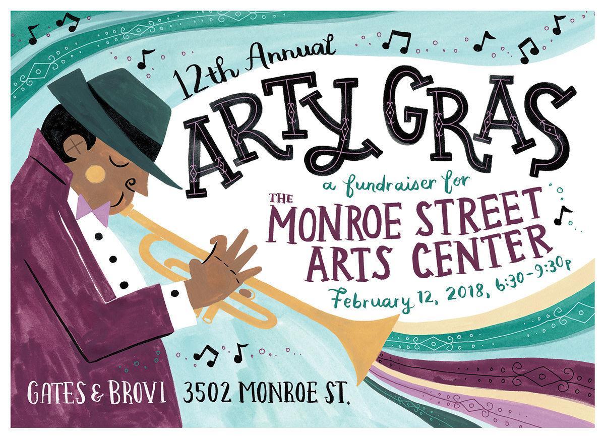 Arty Gras 2018 MONROE STREET ARTS CENTER