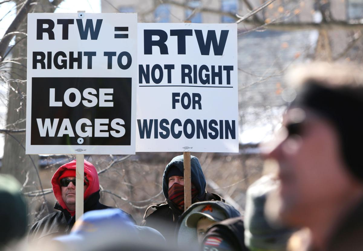 Right to work rally 2015, State Journal photo