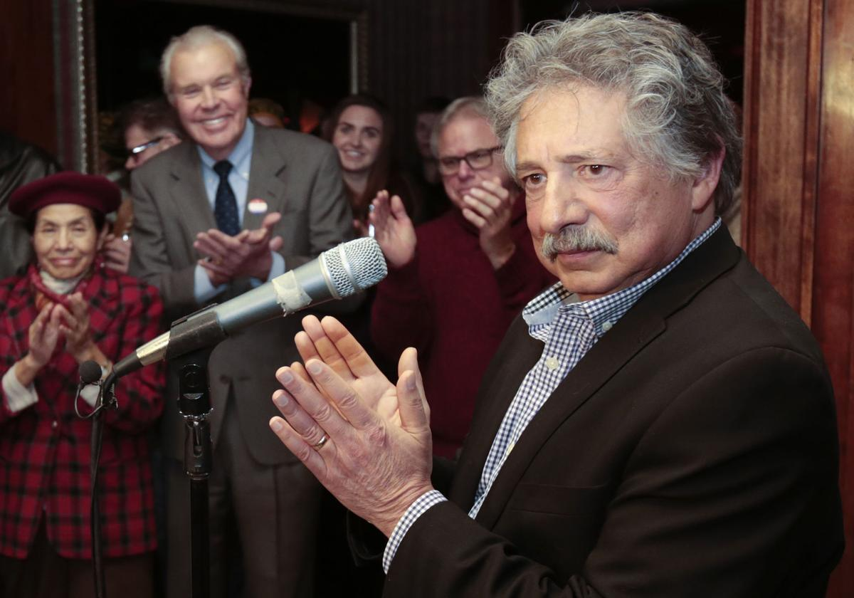 Paul Soglin at campaign party