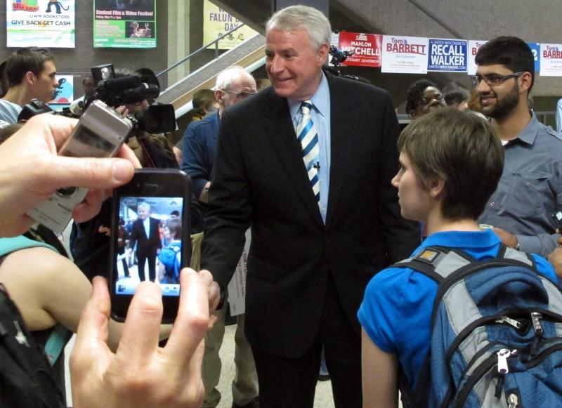 Barrett recall campaigning file photo 5/14/12