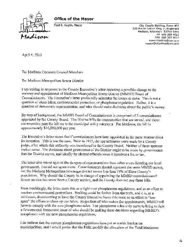 April 4, 2013, Soglin letter