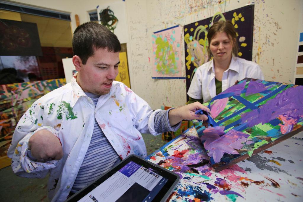 Ben doing art work (copy)