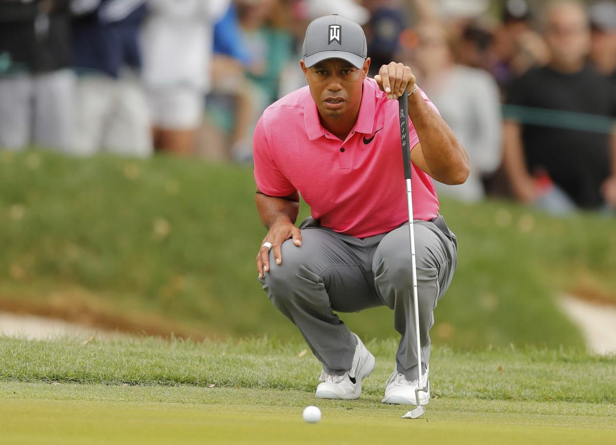 tiger woods just 1 behind rookie leader corey conners