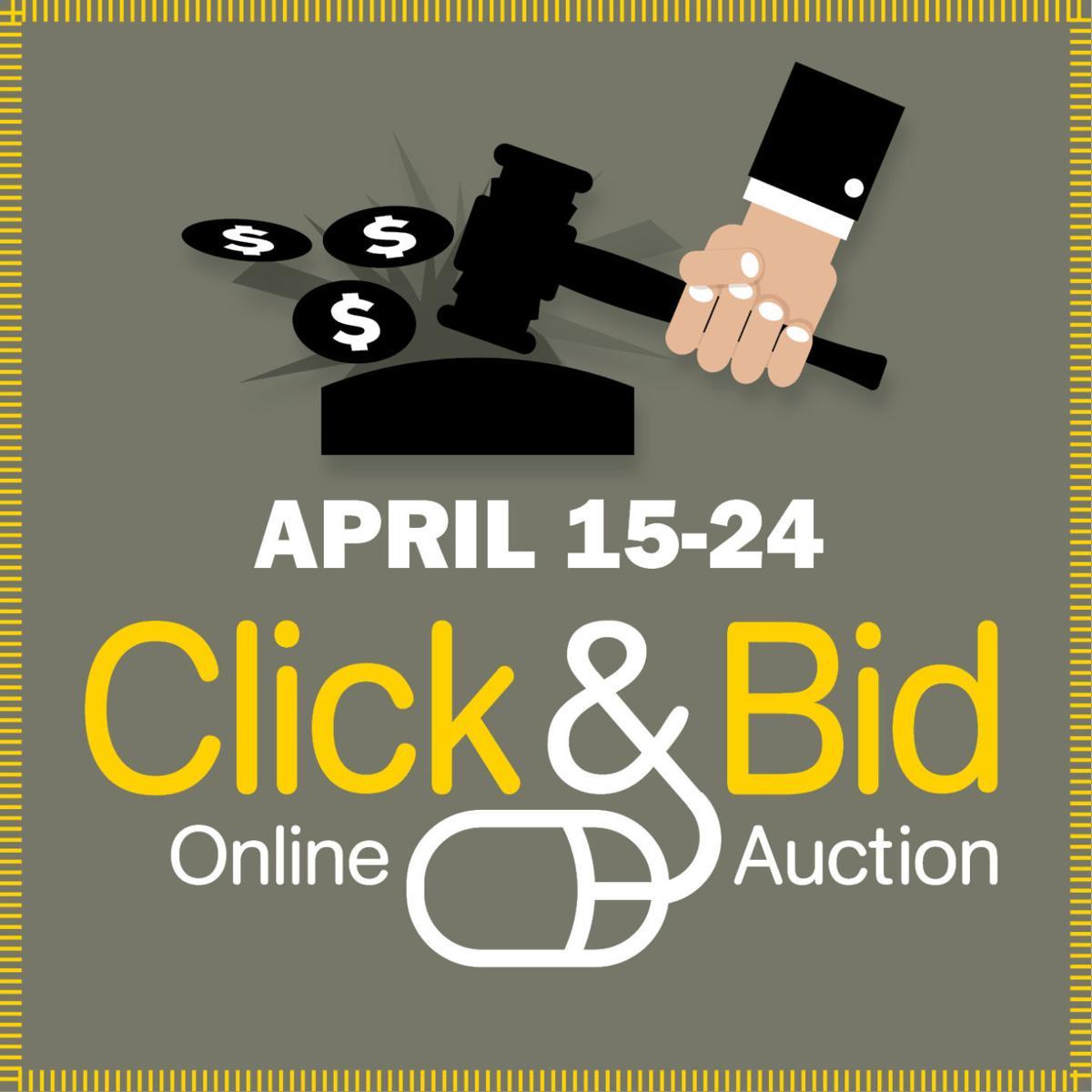 Click & Bid 2018 logo