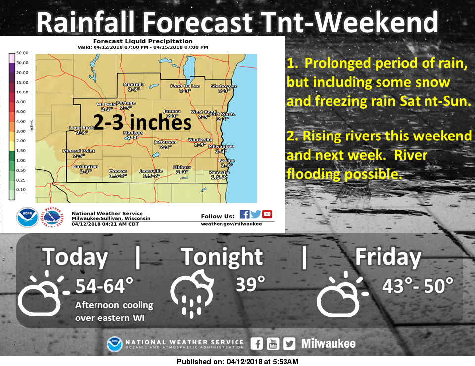 Heavy Rain And Snow Coming To Wisconsin. See When And
