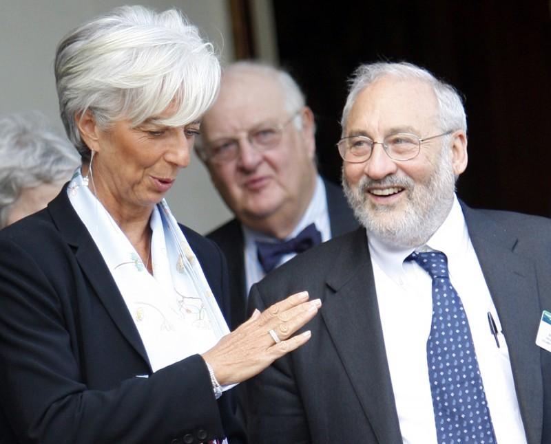 Christine Lagarde, Joseph Stiglitz