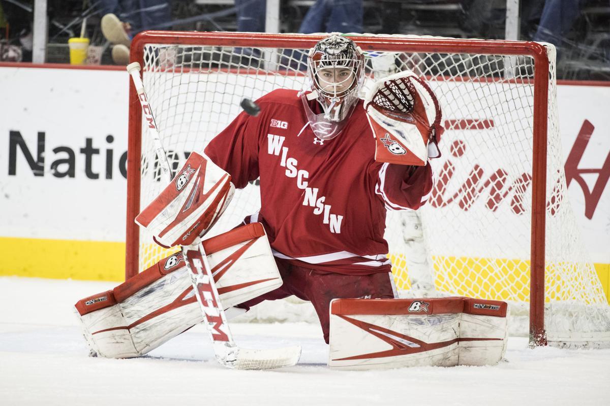 badgers men u0027s hockey wisconsin goaltenders climb stats rankings