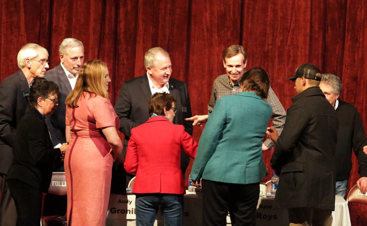 Candidate briefings before the debate