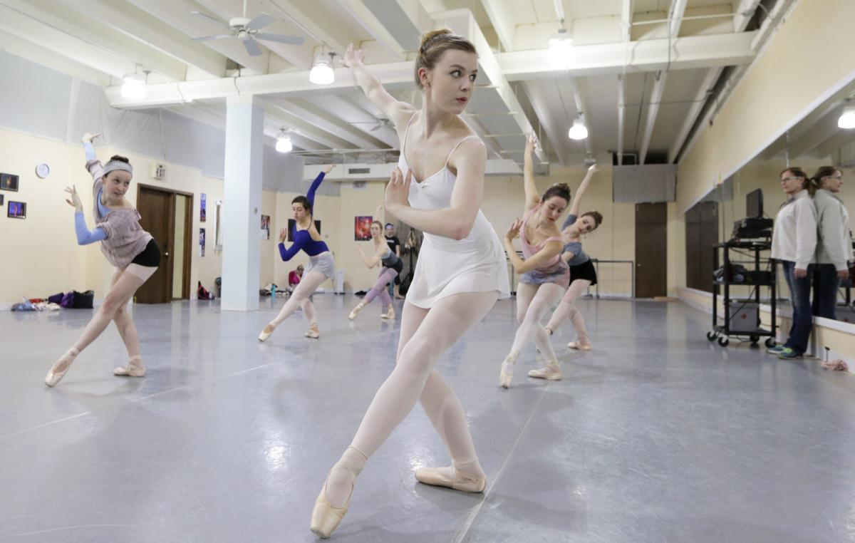 Lily Edgar in Madison Ballet rehearsal