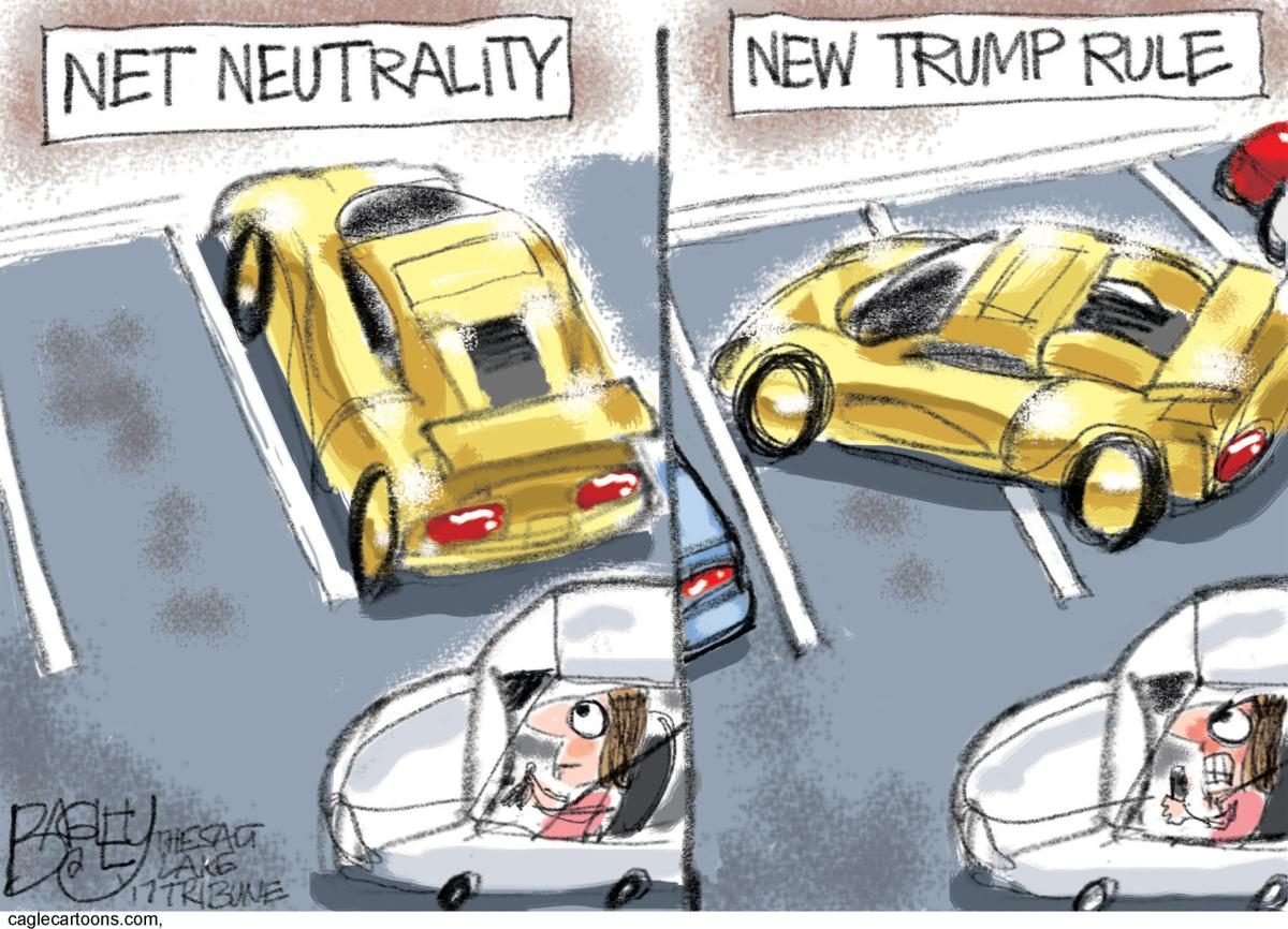 Image result for cartoons for net neutrality 2017