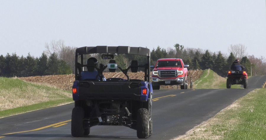 ATVs allowed on the road