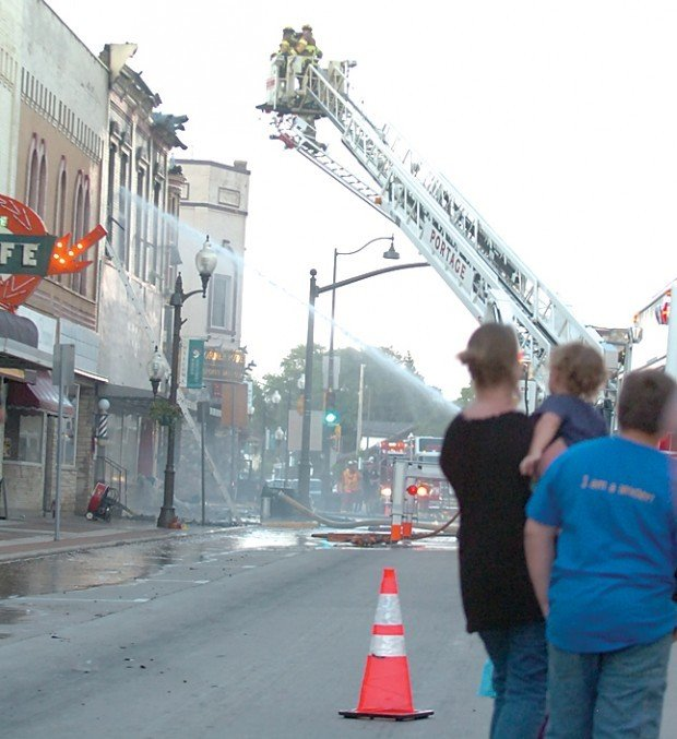 Portage Pointe Apartments: Fire Claims Several Stores, Apartments In Downtown Portage