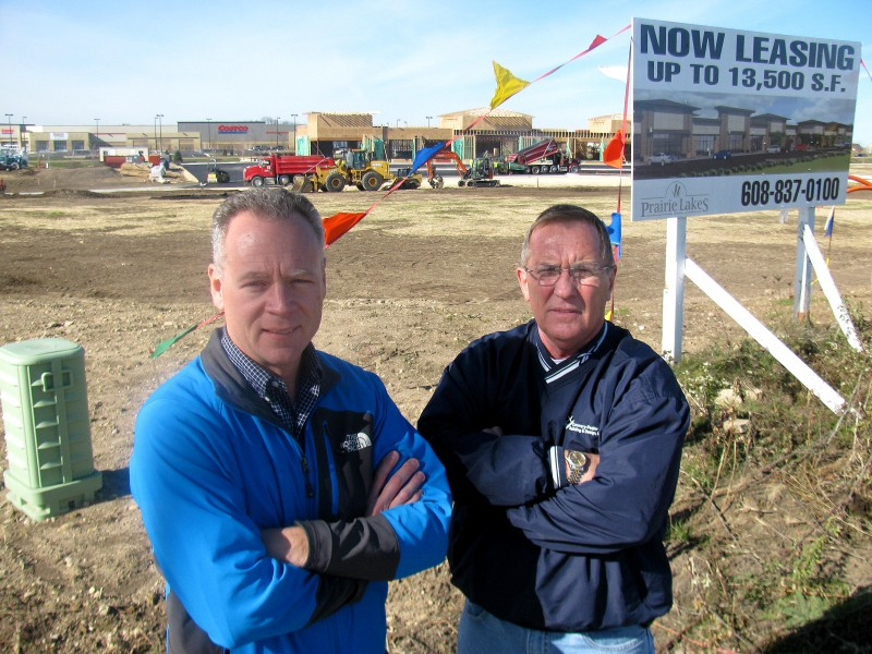 Prairie Lakes developers, Chad Fedler, Jerry Connery