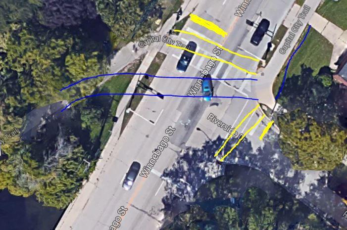 Proposed Winnebago-Riverside bike crossing