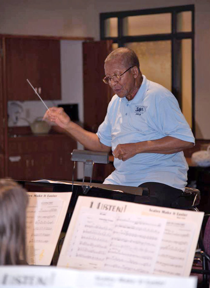 Jim Latimer conducting in 2018