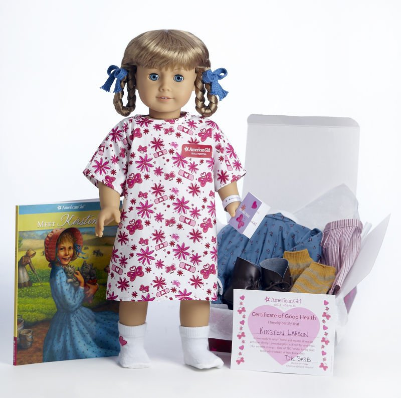 celebrity american girl doll from new york city library gets a checkup at home madison. Black Bedroom Furniture Sets. Home Design Ideas