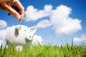 Saving money image