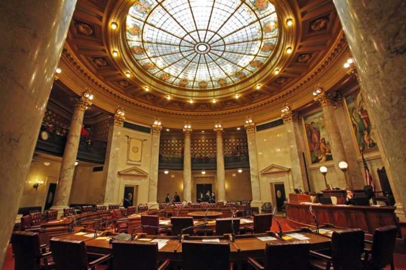 Wisconsin Senate chamber file photo