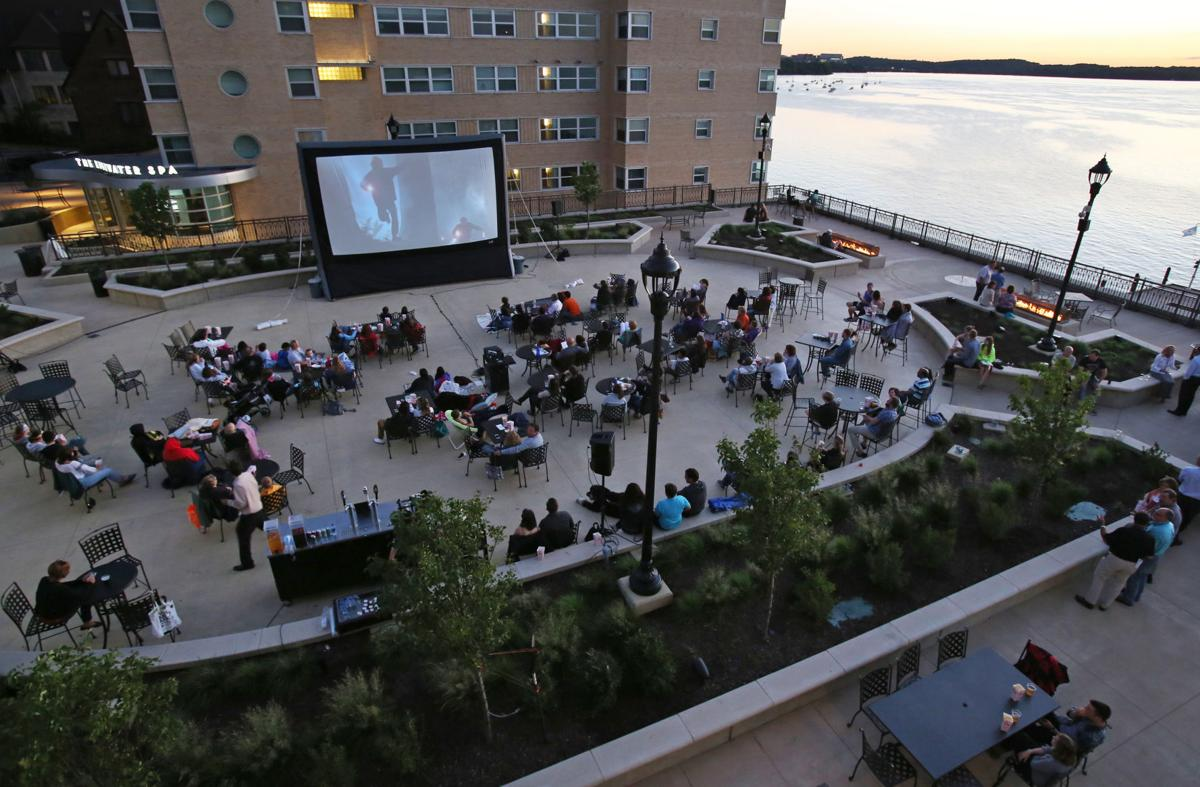 The plaza at Madison's Edgewater hotel