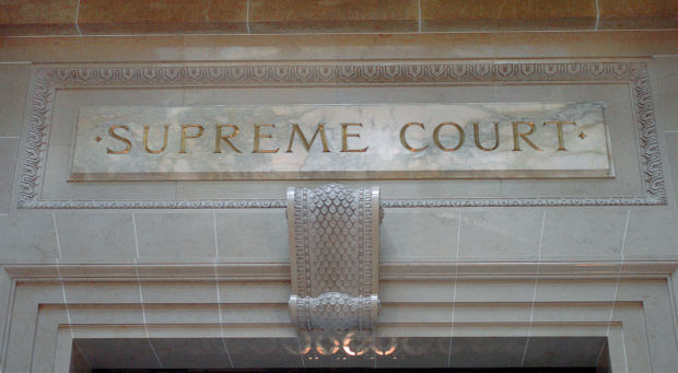 Wisconsin supreme court chamber entrance file photo