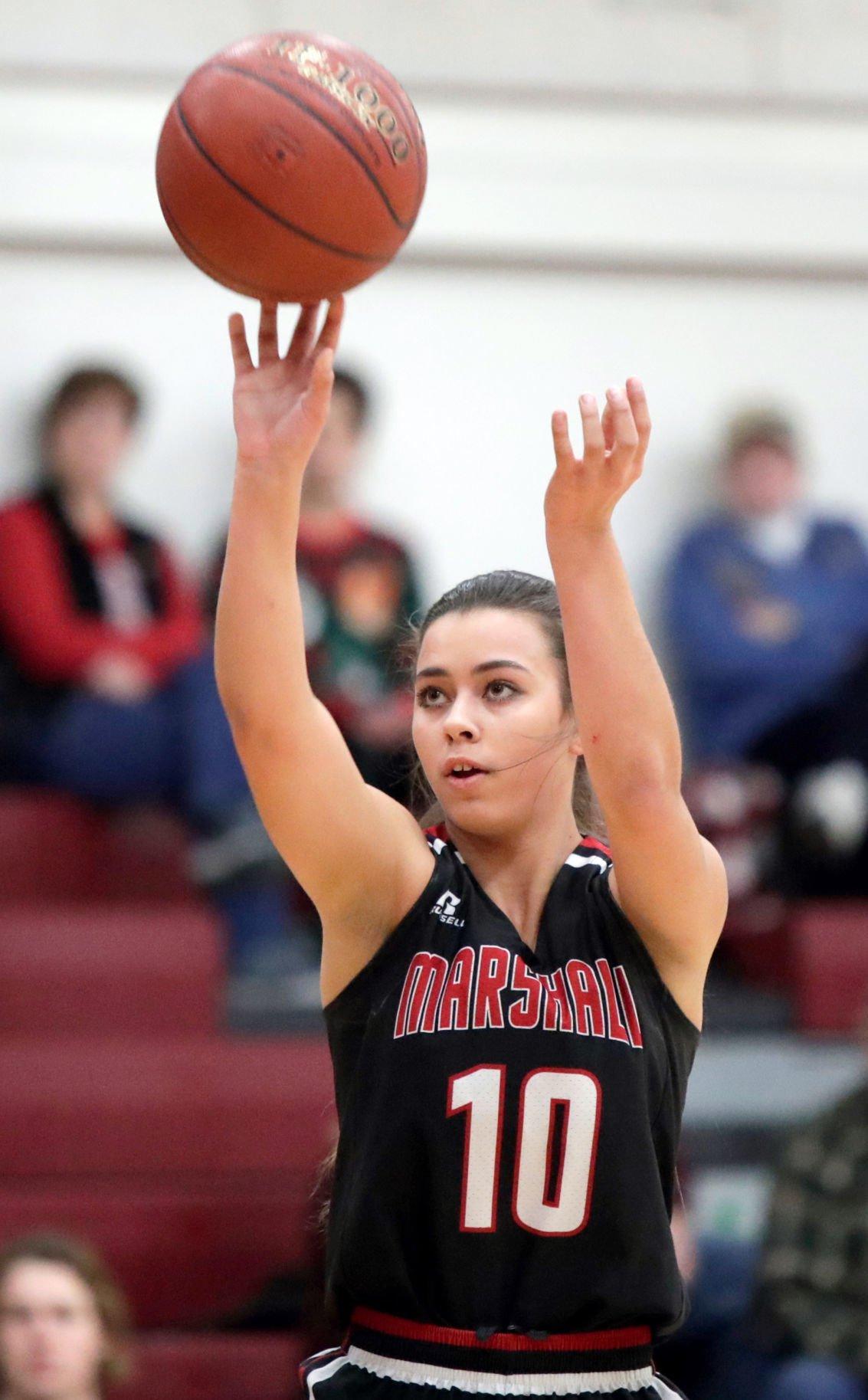 Marshall girls basketball player Mia Morel