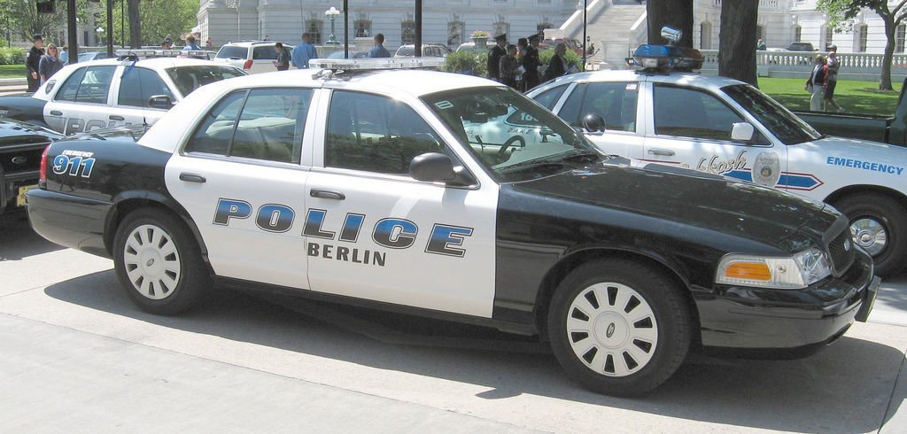 Berlin police squad car