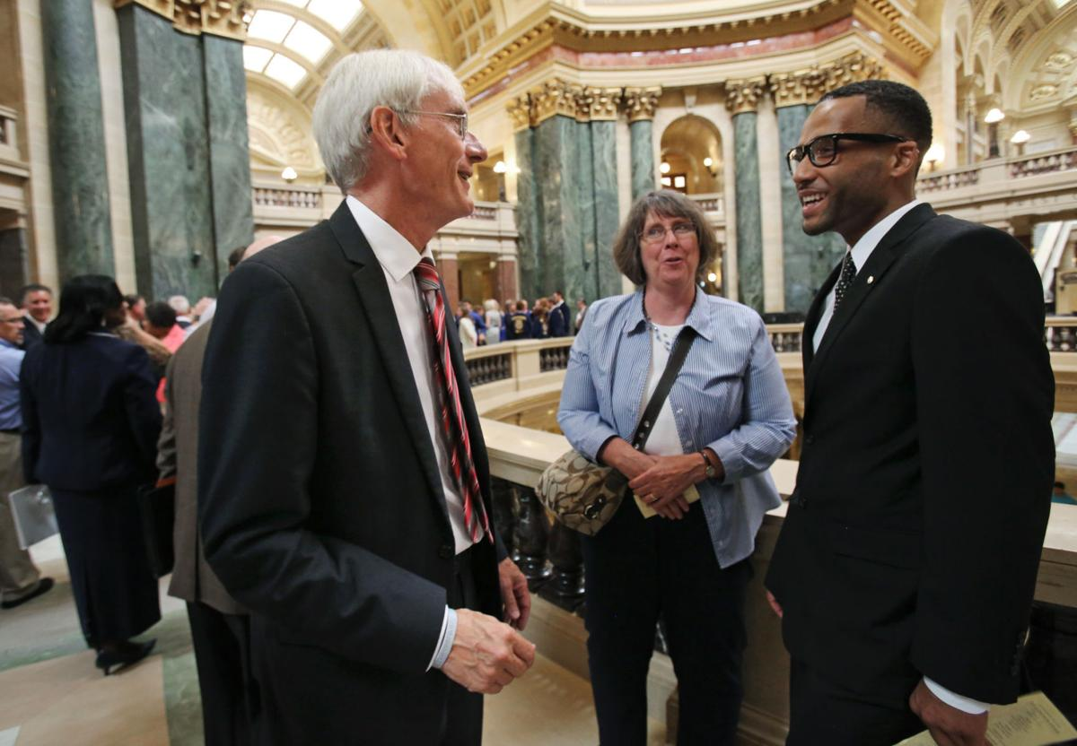 Tony Evers at state of education address