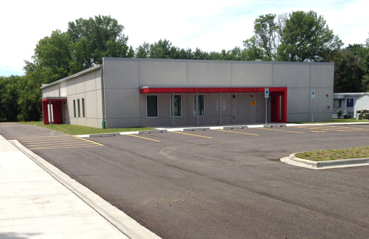 The city is opening a 1 7 million storm shelter with playground and other amenities to serve the highland manor mobile home park on madison s south side