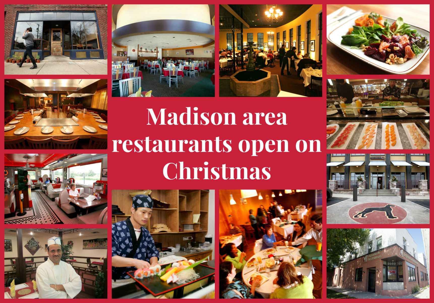 Here are the restaurants that are staying open on Christmas ...