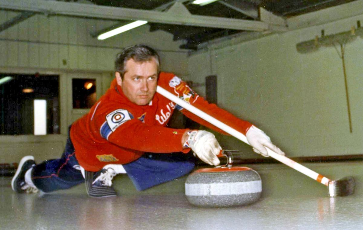 Wally Henry curling