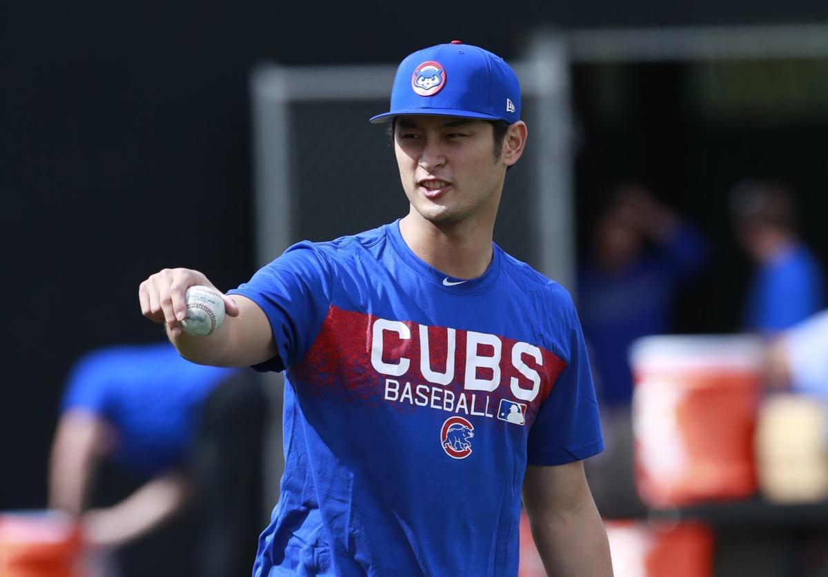 Yu Darvish, Cubs spring training, AP photo