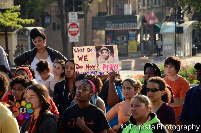 Trayvon Martin rally - Madison