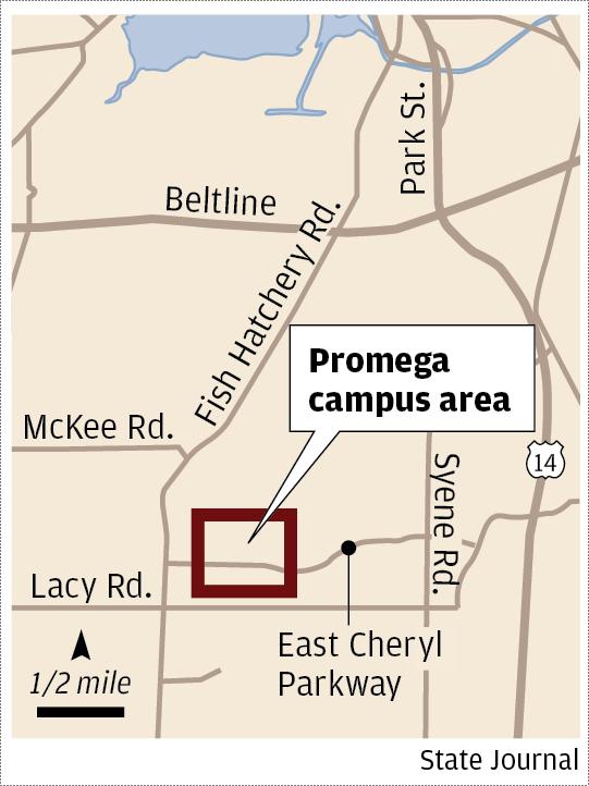 Promega campus map