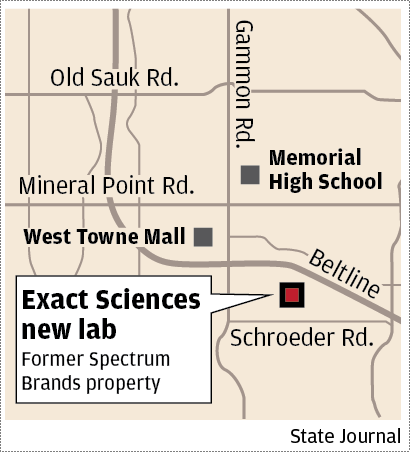 Exact Sciences Chooses Former Spectrum Brands Site In