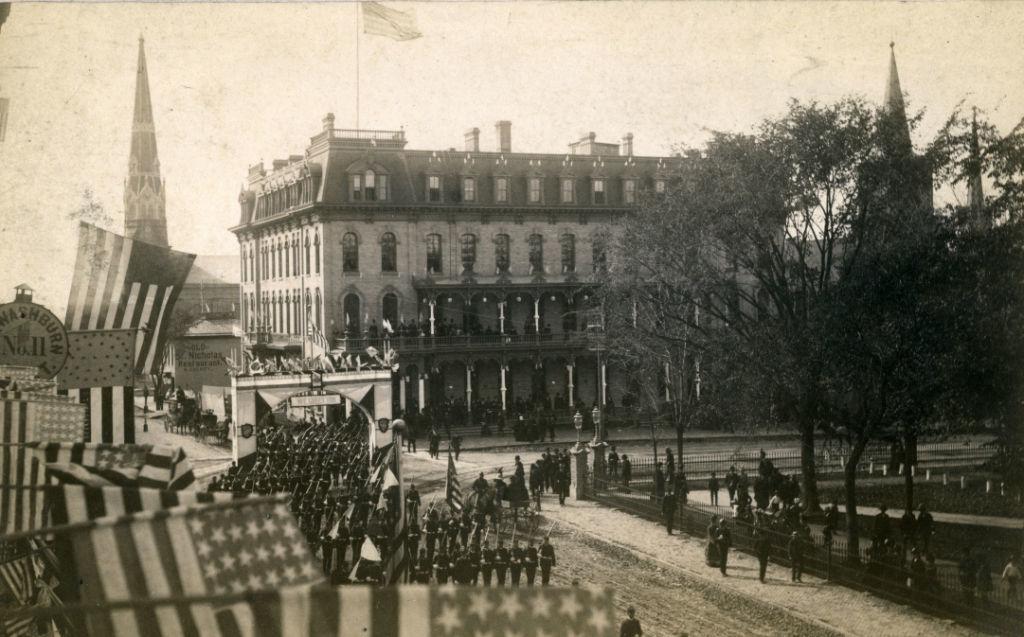 Main Street_parade_Pres. Cleveland 1887