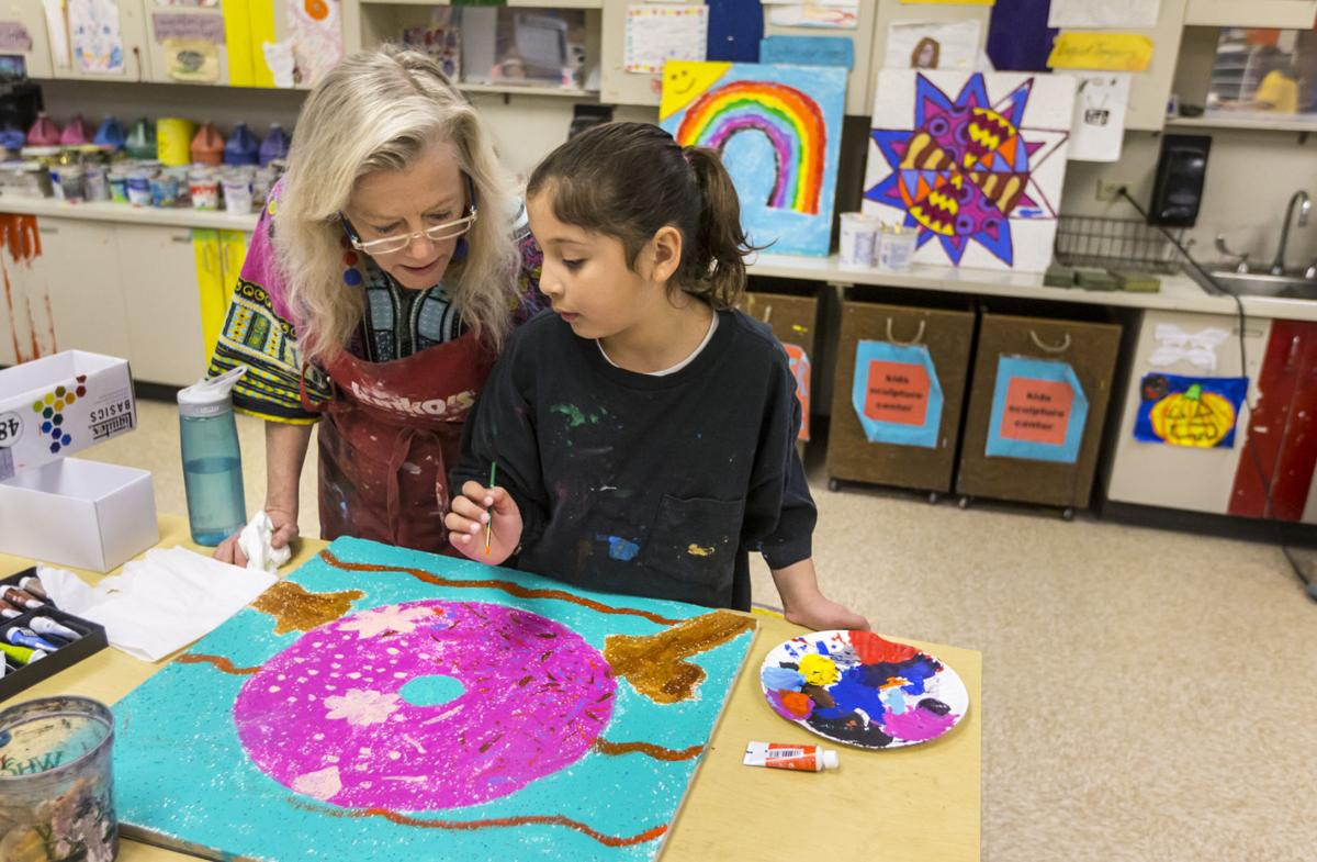 School spotlight things are looking up for ceiling tile student huegel elementary art ceiling tiles dailygadgetfo Choice Image