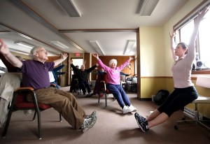 chair yoga exercises offer health and social benefits for