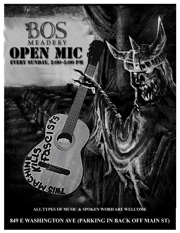 Open Mic at Bos Meadery BOS MEADERY