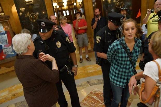 Girl arrest
