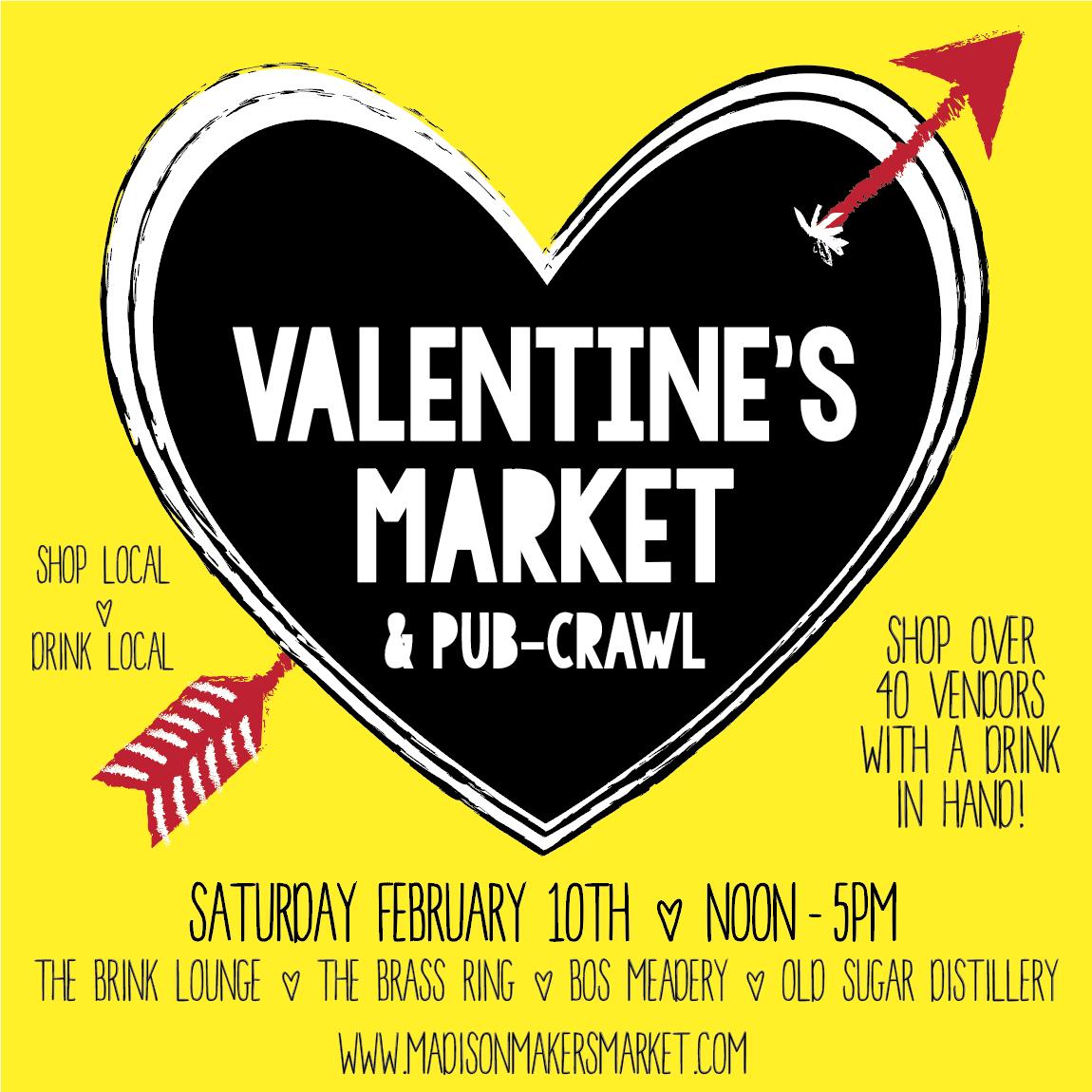 Valentine's Market & Pub-Crawl MADISON MAKERS