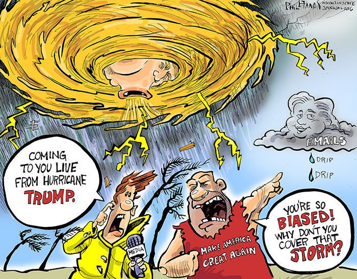 Image result for trump and hurricane cartoons
