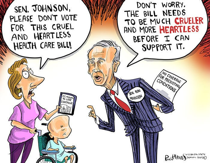 Image result for ron johnson cartoons