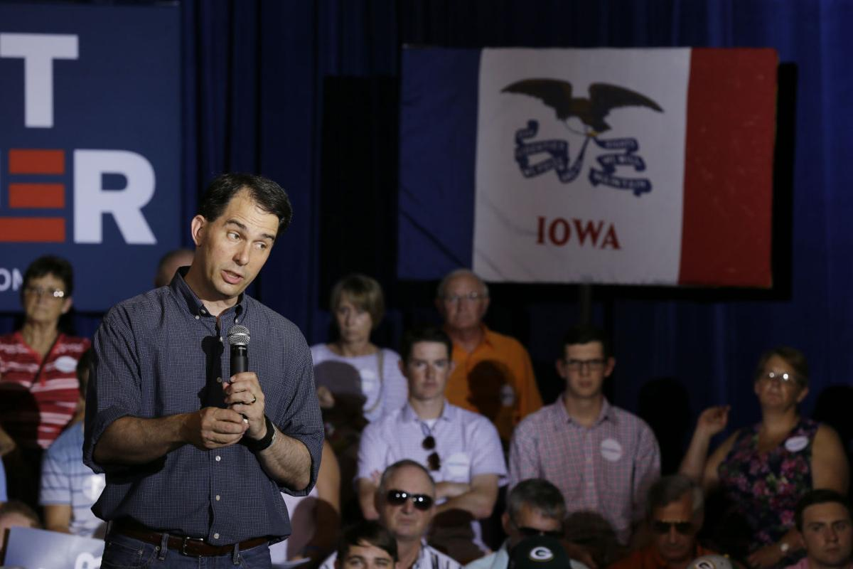 Scott Walker fields questions during his first town hall in Iowa