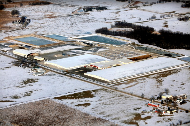 Photo: Aerial view of the Rosendale Dairy