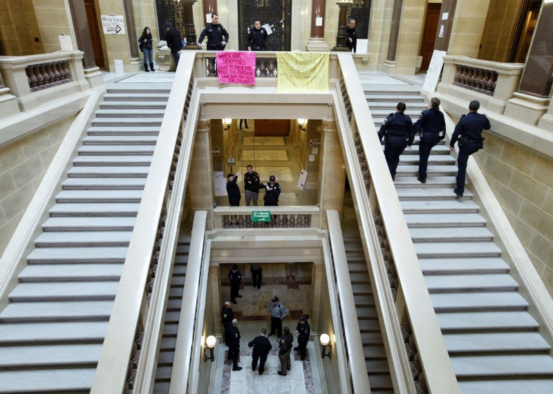 More cops at the Capitol (2/22/11)