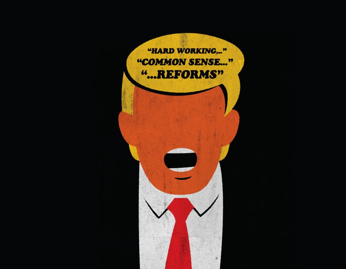 GOP words illustration for Fanlund column